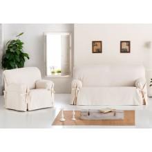 """Funda de sofá con lazos """"Blanca"""""""