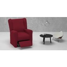 """Fundas de sillón relax tejido """"Natural"""". Opción orejero o pie completo. Diez colores a elegir."""