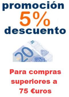 Promoción 5% compras superiores