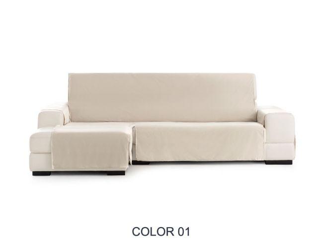 """Funda cubre sofá chaiselongue """"Francia"""" color 00. Funda impermeable"""