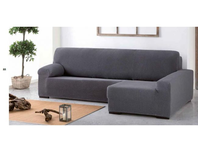 Funda sofa chaise longue tejido cota diez colores - Funda de sofa chaise longue ...