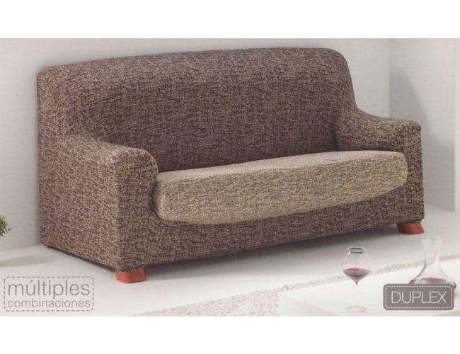 """Funda de sofá """"Jupiter"""" de una plaza con cojín separado marrón-beige"""