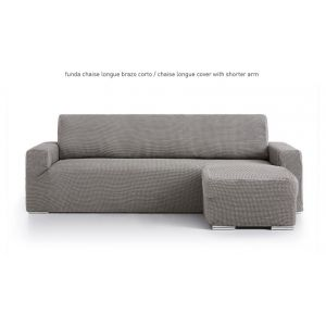Funda para sofa chaiselongue con brazo corto