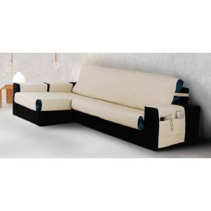 "Funda cubre sofá chaise-longue ""Catherine"""