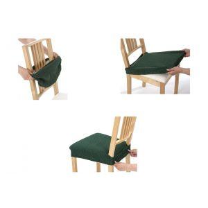 Sistema de colocación de funda para silla