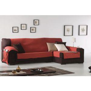 Funda Cubre Sofás Chaisse Longue tejido Roquelina vista en salón