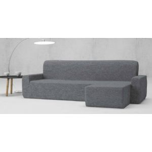"Funda Chaise Longue ""Adelina"" color gris brazo largo"