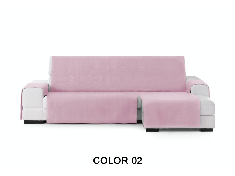 "Medidas Funda de sofá chaiselongue ""Serena"". Funda cubre sofá chaiselongue color 02"