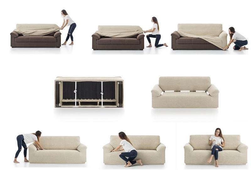 Colocación fundas de sofá