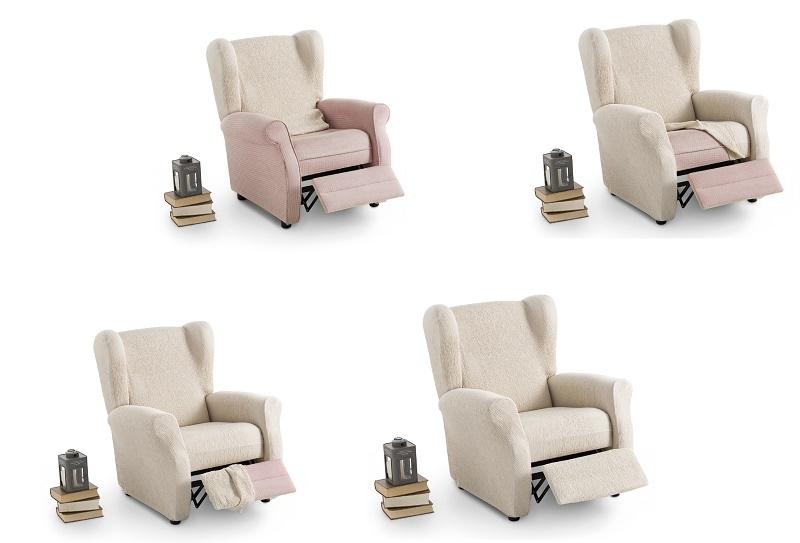 Colocación fundas elástica para sillón orejero de relax