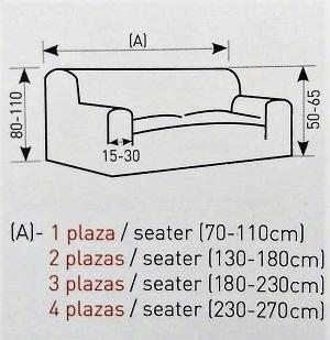 """Medidas funda de sofá """"Adelina"""""""