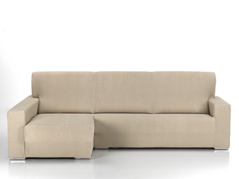 "Funda para sofá Chaise longue bi-elástica ""Pedana"" brazo largo"