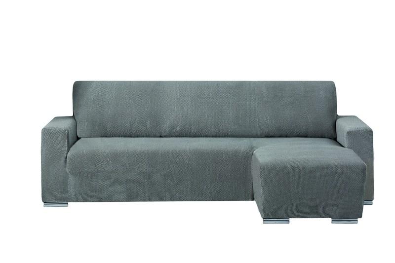 "Funda bi-elástica para sofá chaise longue ""Pedana"" brazo corto"