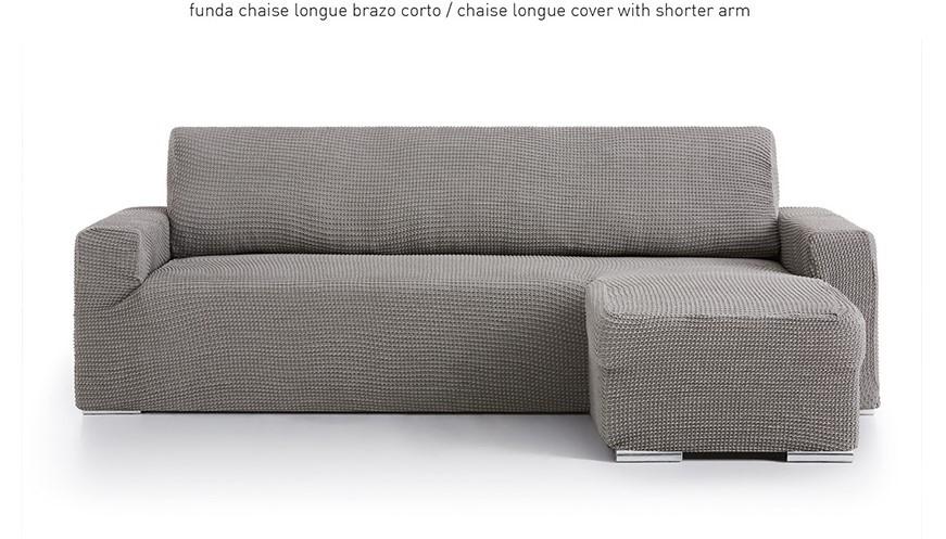 """Funda de sofá chaise longue """"Melos"""" con brazo corto"""