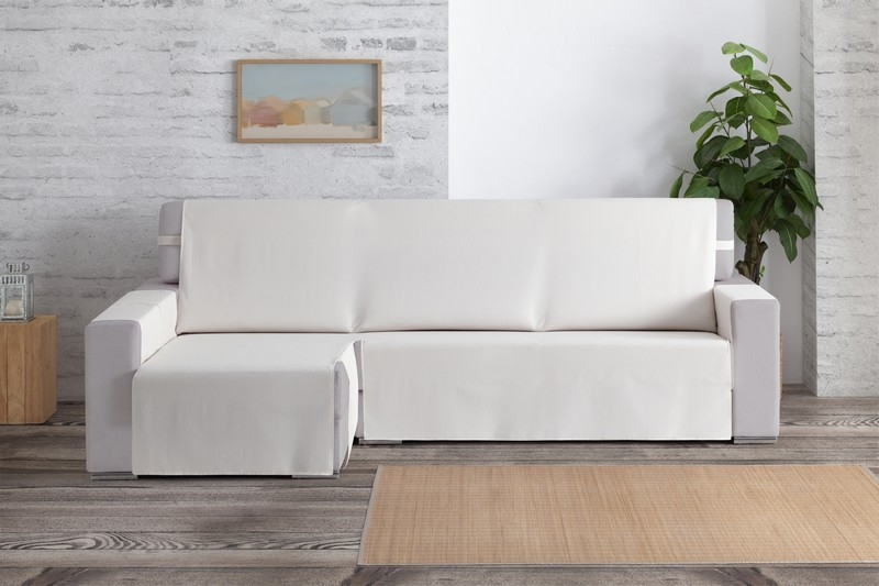 "Funda cubre-sofas para chaiselongue ""Checa"""