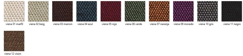 Gama de colores tejido Adelina