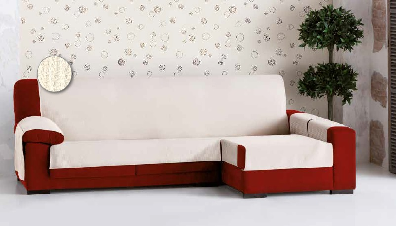 "Funda cubre sofá chaise-longue ""Blanca"" (Ambiente)"