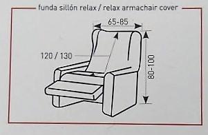Medidas fundas sillón relax con pie por separado