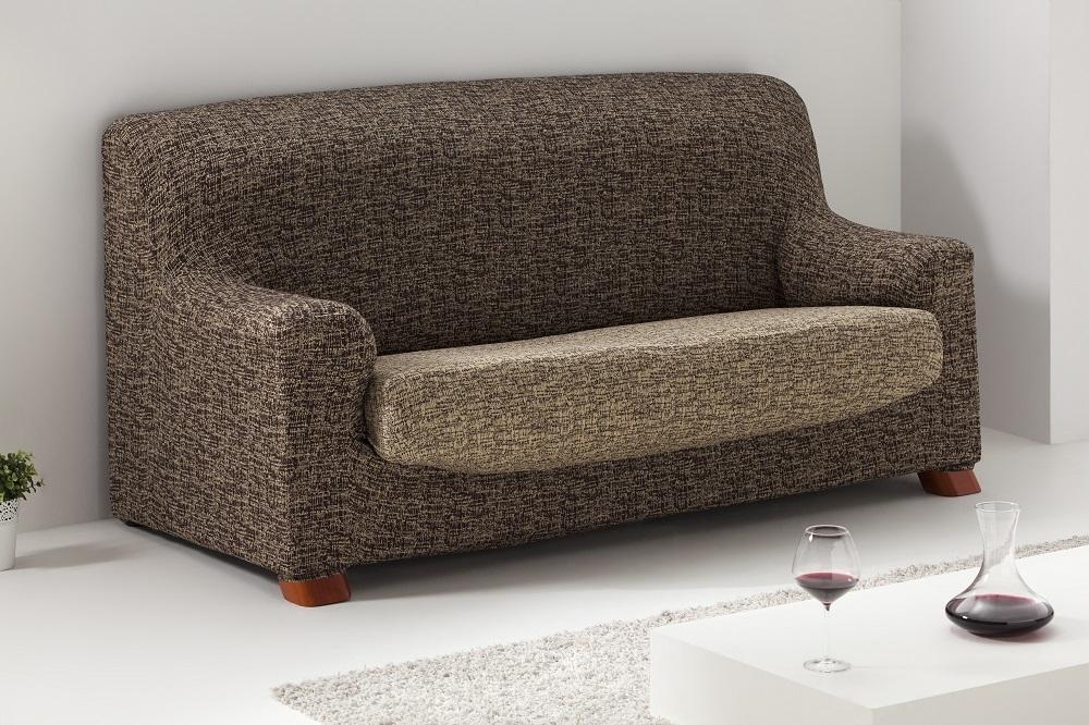 Funda para sofá/sillón de una plaza en color marrón-beige